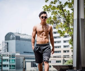 asian boys, ootd, and body goals image