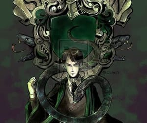 slytherin, tom riddle, and harry potter image
