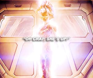 character, captain marvel, and edit image
