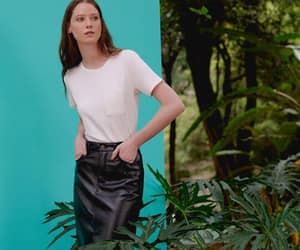 leather, pencil skirt, and skirt image