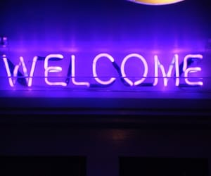 light, welcome, and neon image