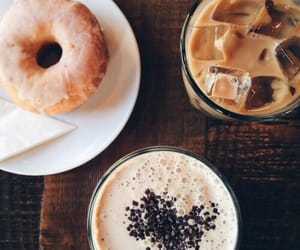 food, coffee, and donuts image