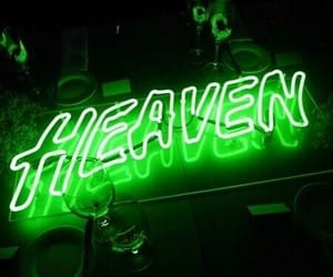 green, heaven, and neon image