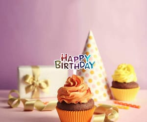 birthday, party, and cupcake image