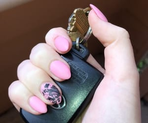 lace, pink, and nails image