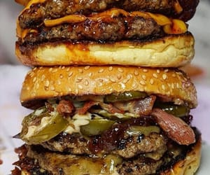 bacon, beef, and burger image