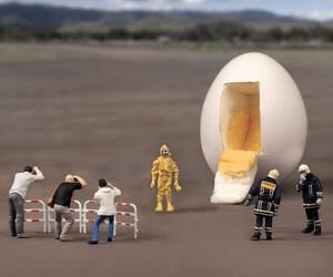 egg, funny, and miniature image