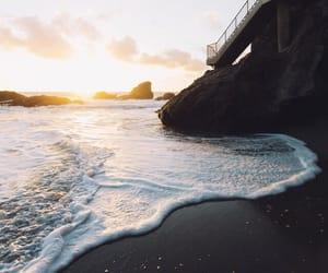 love, sea, and beach image