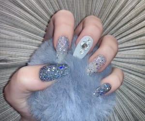 blue, diamond, and gray image