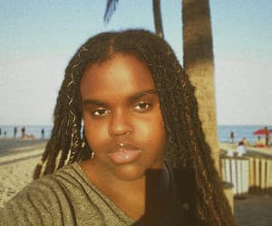 beauty, faux locs, and black girl image