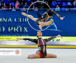 hoop, rhythmic gymnastics, and italy image