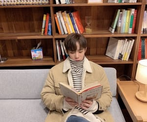 idol, kpop, and reading book image