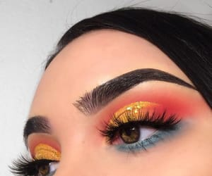 eyes, lipstick, and makeup image
