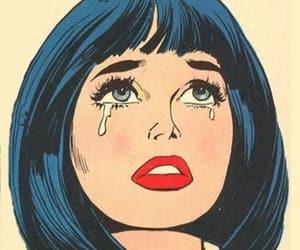 pop art, cry, and sad image