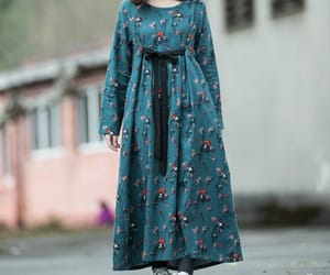 etsy, cotton dress, and long sleeved dress image