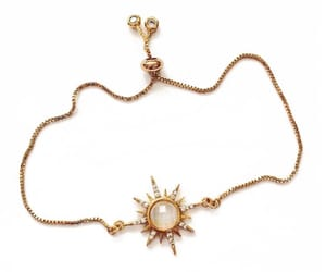 gold, gold necklace, and jewelry image