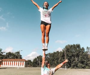 base, cheer, and cheerleading image