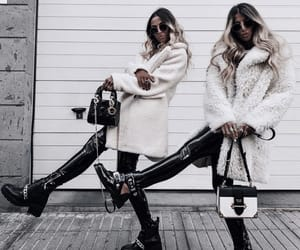 besties, coat, and fashion image