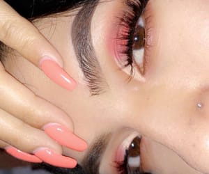 eyebrows, pink, and rosa image