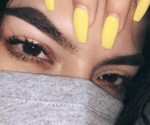 eyebrows, eyes, and makeup image