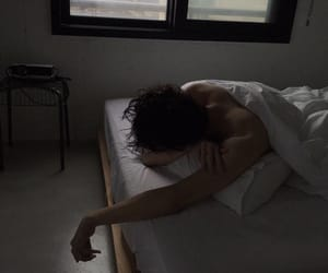 aesthetic, bed, and half naked image