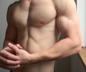 abs, naked chest, and muscles image