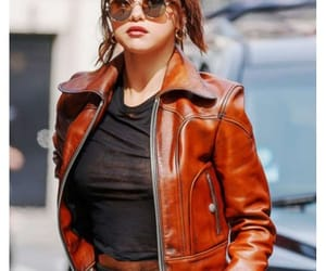 fashion, jacket, and leather jacket image