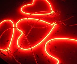 neon, red, and aesthetic image