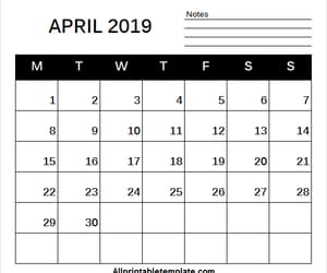 2019 calendar, april 2019 calendar free, and 2019 calendar april image