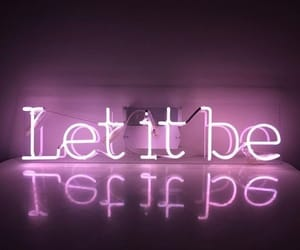 aesthetic, let it be, and neon image
