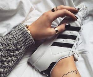 adidas, nail design, and black image