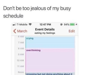 crying, overthinking, and don't be too jealous image
