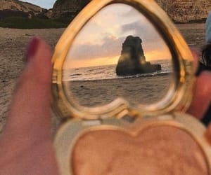 aesthetic, beach, and mirror image