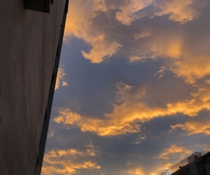 clouds, morning, and sky image