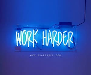 blue, neon light, and quote image