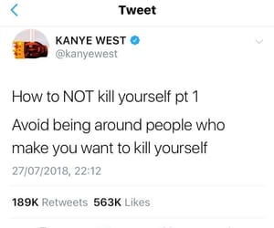 kanye, kill yourself, and kim image