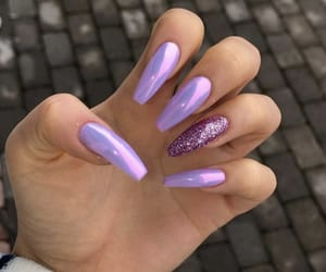 purple, beauty, and nails image