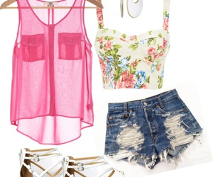 outfit, summer, and pink image