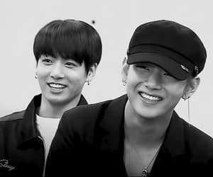 black and white, kpop, and bw image