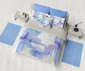 blue room, artistic bedding, and etsy image