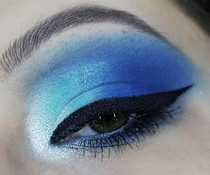 blue, eyelashes, and lid image