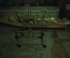hospital, skeleton, and long gone image