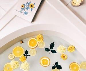 yellow, bath, and lemon image