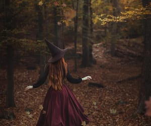 autumn, fall, and witch image