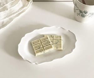 aesthetic, white, and chocolate image
