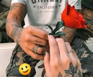 amor, couples, and flowers image