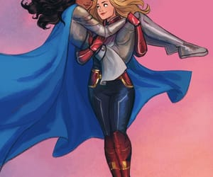 Marvel, valkyrie, and captain marvel image