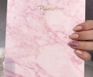 long nails, marble, and nail art image