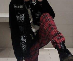 black, dark, and fashion image
