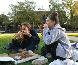 friends, pizza, and best friends image